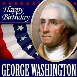 May be an image of 1 person and text that says 'Happy Birthday CHL GEORGE WASHINGTON'